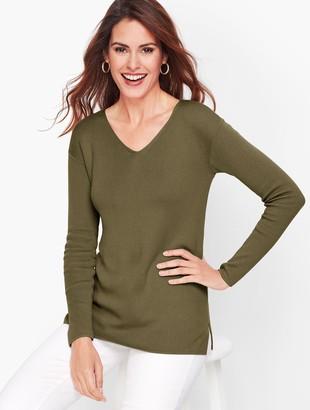 Talbots Drop Shoulder V-Neck Sweater
