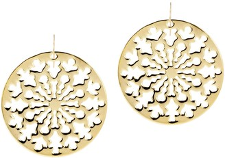 NUOVO Oro Openwork Circle Earrings, 14K Gold Over Resin