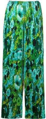 Richard Quinn Floral Flared Trousers