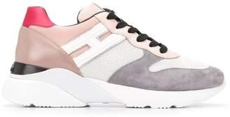 Hogan wedge heel panelled sneakers