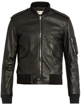 Saint Laurent Leather bomber jacket
