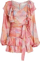 LoveShackFancy Moxie Pleated Silk Dress