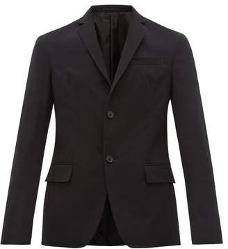Prada Single Breasted Technical Twill Blazer - Mens - Black