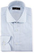 Ike Behar Check Dress Shirt, Blue/White/Green