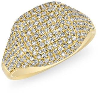 Anne Sisteron Diamond Cushion Pinkie Ring