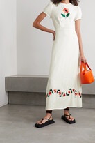 Thumbnail for your product : Rixo Aurelia Embroidered Voile Maxi Dress - White