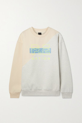 P.E Nation First Position Printed Organic Cotton-blend Jersey Sweatshirt - Ivory