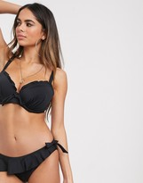 Thumbnail for your product : Pour Moi? Pour Moi Fuller Bust Splash underwired bikini top in black