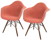 Lumisource Neo Flair Duo Mid-Century Dining Chairs (Set of 2)