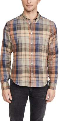 Billy Reid Kirby Plaid Button Down Shirt