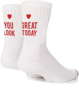 Yeah Bunny You Look Great Today Socks