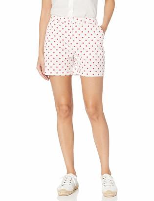 Caribbean Joe Women's Petite Clean Front Cuffed Short with Pockets