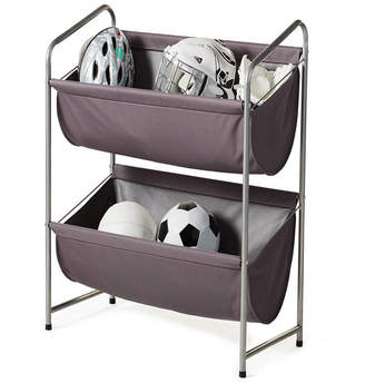 Neatfreak Multipurpose 2-Tier Deep Fabric Bin Utility Shelf