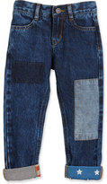 Little Marc Jacobs Stars & Stripes Patchwork Jeans, Blue, Size 4-5