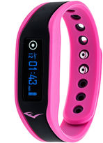 Everlast Womens Pink Rubber Tracker Watch