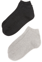 Madewell Heathered Ribbed Low Sock Set