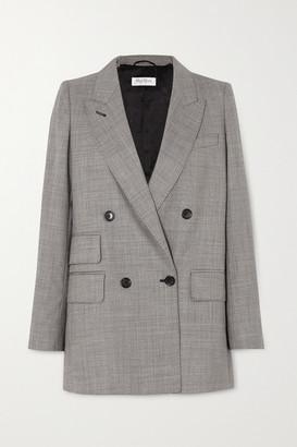 Max Mara Antiope Double-breasted Wool-blend Blazer - Black