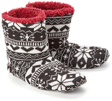 Hanes Black Nordic Sherpa-Lined Slipper