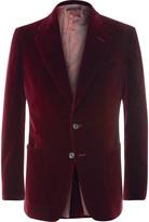 Tom Ford - Merlot Shelton Slim-fit Cotton-velvet Tuxedo Jacket