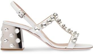 Miu Miu Crystal-Embellished Sandals