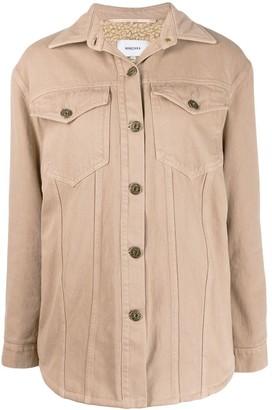 Nanushka Nusta shearling lined denim jacket