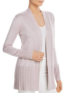 Sioni Ribbed-Trim Open Cardigan
