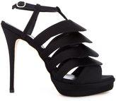 Jerome Rousseau 'Quorra' satin evening sandals - women - Calf Leather/Goat Skin/Viscose - 36