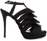 Jerome Rousseau 'Quorra' satin evening sandals