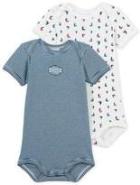 Petit Bateau Set of 2 baby boys bodysuits