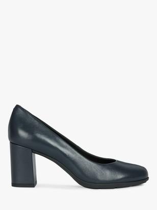 Geox Women's Annya Leather Block Heel Court Shoes