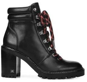 Sam Edelman Sade Block-Heel Leather Hiking Boots