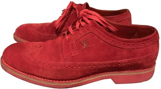 Louis Vuitton Red Suede Lace ups