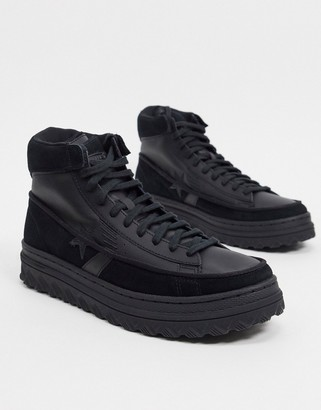 Converse Pro Leather X2 hi trainers in black