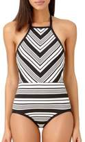 Anne Cole High Neck One-Piece Swimsuit