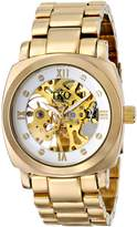 "TKO ORLOGI Women's TK628G ""Mechanical Skeleton"" -Tone Watch"