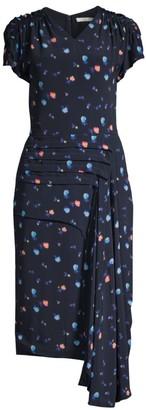 Jason Wu Collection Cascade Crepe Midi Dress