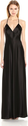Jill Stuart Jill Women's Deep V Silk Slip Dress