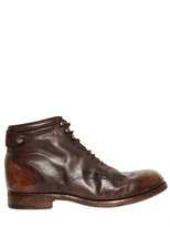 Alberto Fasciani Vintaged Horse Leather Low Boots