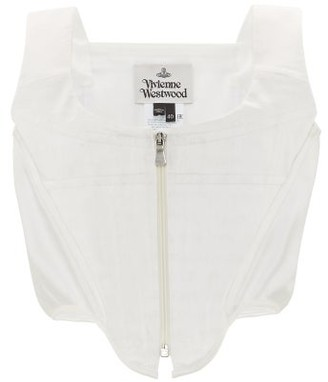 Vivienne Westwood Zipped Charmeuse Corset Top - Womens - White