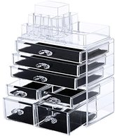 SONGMICS Cosmetic/makeup Organizer Jewelry Chest Bathroom Storage Case 3 Pieces UJMU07T