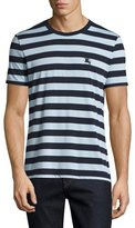 Burberry Striped Cotton Jersey T-Shirt, Navy