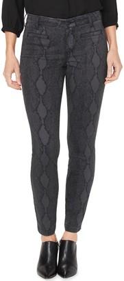 NYDJ Ami High Waisted Printed Ankle Skinny Jeans