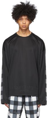 mastermind WORLD Black Block Check Boxy T-Shirt