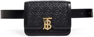 Burberry Leather Quilted Monogram Belt Bag