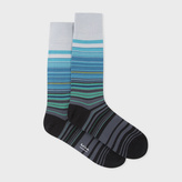 Paul Smith Men's Grey 'Higgle Stripe' Socks