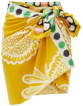 La DoubleJ Pineapple-print Cotton-blend Sarong - Womens - Yellow Print
