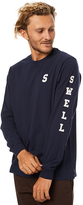 Swell Ls Campus Mens Tee Blue