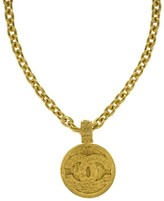 Chanel Filigree Pendant Necklace