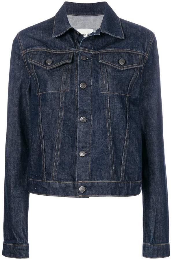 Helmut Lang striped detail denim jacket