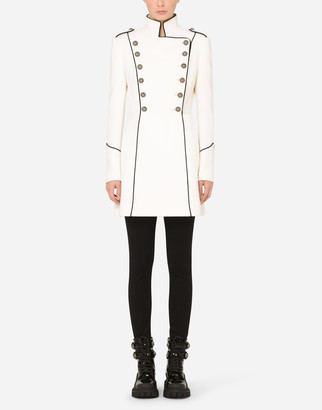 Dolce & Gabbana Woolen Peacoat With Piping